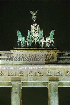 The Quadriga, Brandenburg Gate, Berlin, Germany, Europe
