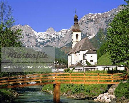 Église à Ramsau, Bavière, Allemagne, Europe