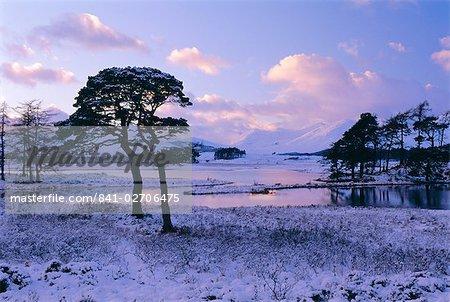 Loch Tulla in winter, Rannoch Moor, Highlands Region, Scotland, United Kingdom, Europe