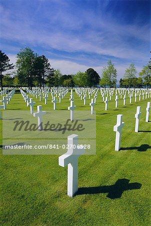Cimetière américain, Colleville, en Normandie, débarquement, Normandie (Normandie), France, Europe