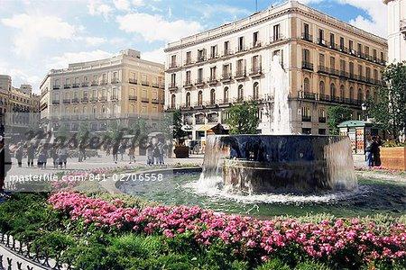 Puerta del Sol, Madrid, Espagne, Europe