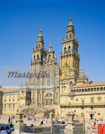 Santiago de Compostela, Cathedral, Galicia, Spain, Europe