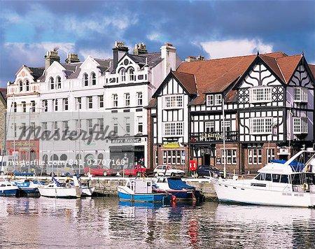 Old harbour, Douglas, Isle of Man, Angleterre, Royaume-Uni, Europe
