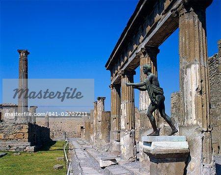 Temple d'Apollon à Pompéi, Campanie, Italie