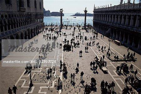 La Piazzetta, Venise, Vénétie, Italie, Europe