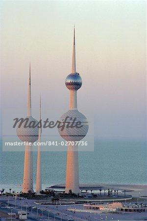 Châteaux d'eau, Kuwait City, Koweït, Moyen-Orient