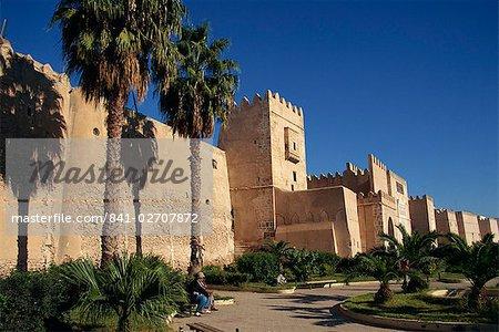 Remparts Aghlabides, murs de la médina, à Sfax, en Tunisie, l'Afrique du Nord, Afrique