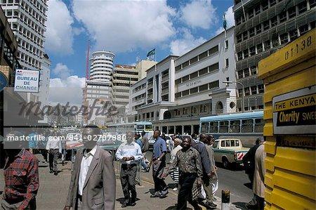 Moi Avenue, Nairobi, Kenya, East Africa, Africa