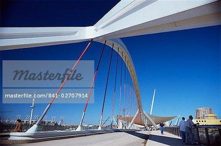 Nouveau pont construit pour l'Expo 92, sur le Rio Guadalquivir, Séville, Andalousie, Espagne, Europe