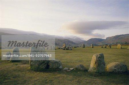 Castlerigg Stone Circle (the Druid's Circle), Lake District National Park, Cumbria, England, United Kingdom, Europe