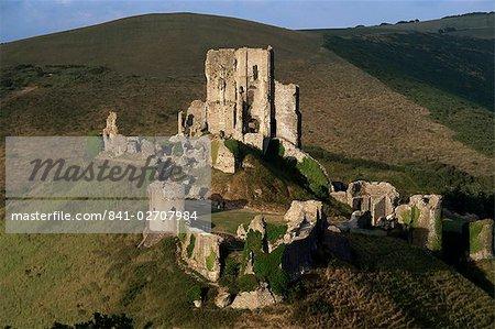 Le château de Corfe, Corfe, Dorset, Angleterre, Royaume-Uni, Europe