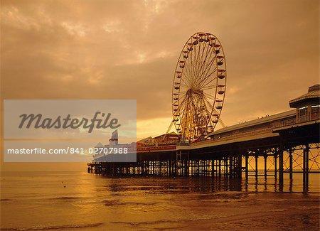 La jetée, Blackpool, Lancashire, Angleterre, Royaume-Uni, Europe