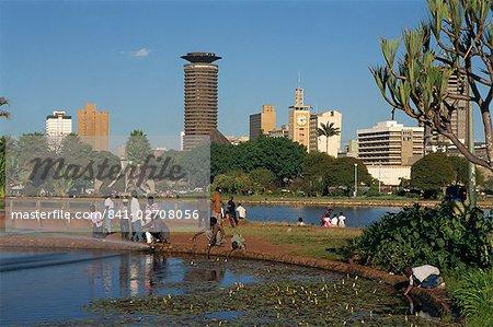 City skyline, Nairobi, Kenya, East Africa, Africa