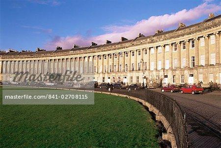 Royal Crescent, Bath, Site du patrimoine mondial de l'UNESCO, Avon, Angleterre, Royaume-Uni, Europe