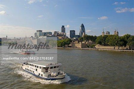 City skyline from Tower Bridge, London, England, United Kingdom, Europe