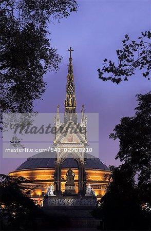 Albert Memorial et le Royal Albert Hall, Londres, Royaume-Uni, Europe