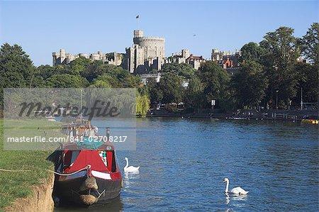 Windsor Castle und Themse, Berkshire, England, Vereinigtes Königreich, Europa
