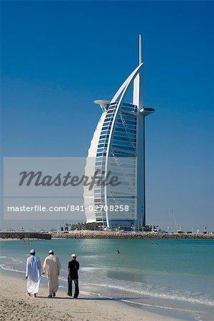Burj al Arab beach, Dubai, Émirats Arabes Unis, Moyen-Orient
