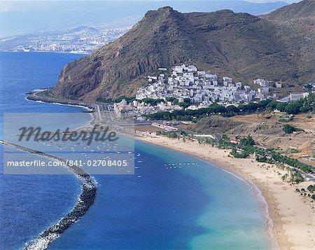 Plage de Las Teresitas, près de Santa Cruz de Tenerife, Tenerife, îles Canaries, Espagne, Atlantique, Europe