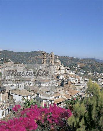 Santa Prisca chuch et ville, Taxco, centre du Mexique, le Mexique, l'Amérique centrale