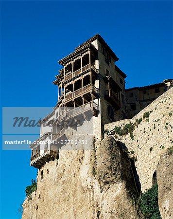 The Hanging Houses, Cuenca, Castilla La Mancha, Spain, Europe
