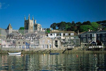 Front de mer, Fowey, Cornwall, Angleterre, Royaume-Uni, Europe