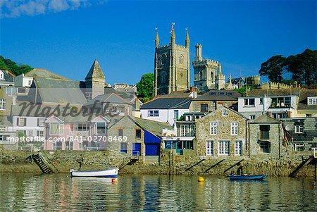 Waterfront at Fowey, Cornwall, England, UK