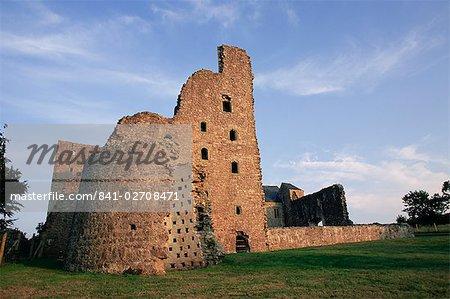 Oxwich Castle, péninsule de Gower, West Glamorgan, pays de Galles, Royaume-Uni, Europe