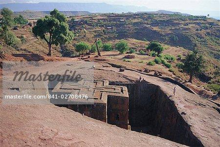 Parier Giorgis, rock cut Eglise, Lalibela, Ethiopie, Afrique
