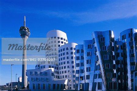 Neuer Zollhof, Dusseldorf, Nordrhein-Westfalen (North Rhine Wesphalia), Germany, Europe