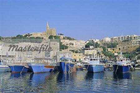 Mgarr harbour, Gozo, Malte, Méditerranée, Europe