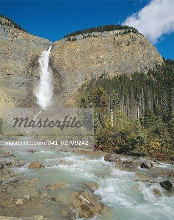 Chutes Takakkaw, Yoho Valley, Yoho National Park, montagnes Rocheuses, en Colombie-Britannique, Canada