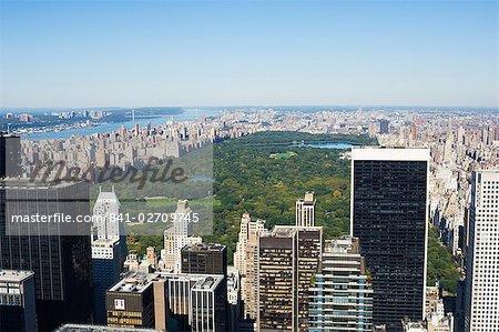 Grande vue sur Central Park et Upper Manhattan, New York City, New York, États-Unis d'Amérique, l'Amérique du Nord
