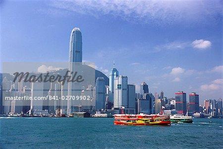 Skyline de l'île de Hong Kong et Victoria Harbour, Hong Kong, Chine, Asie