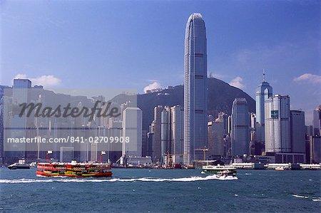 Star skyline Ferry, port de Victoria et l'île de Hong Kong, Hong Kong, Chine, Asie