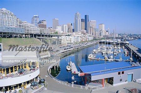 City skyline et front de mer, l'état de Seattle, Washington, États-Unis d'Amérique (États-Unis d'Amérique), Amérique du Nord