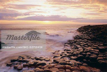 La chaussée des géants, comté d'Antrim, Ulster, Irlande du Nord, Royaume-Uni, Europe