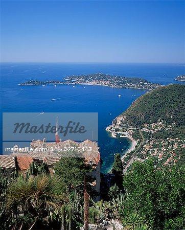 Eze et St. Jean-Cap-Ferrat, Côte d'Azur, Provence, France, Méditerranée, Europe