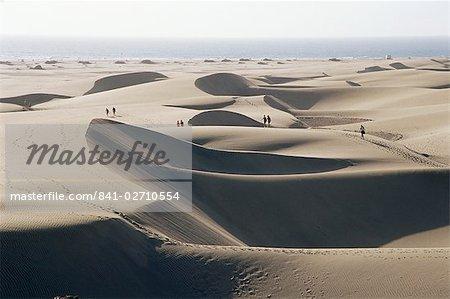 Sand dunes, Maspalomas, Gran Canaria, Canary Islands, Spain, Europe