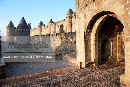 Carcassonne, Site du patrimoine mondial de l'UNESCO, Aude, Languedoc-Roussillon, France, Europe