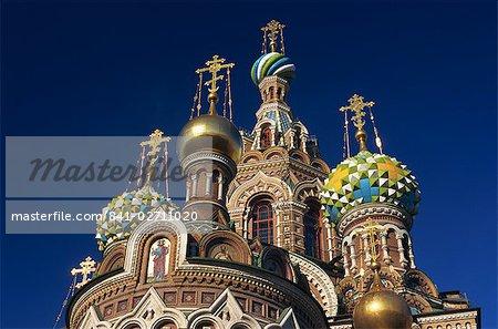 L'église du sang répandu à Saint-Pétersbourg, en Russie, Europe