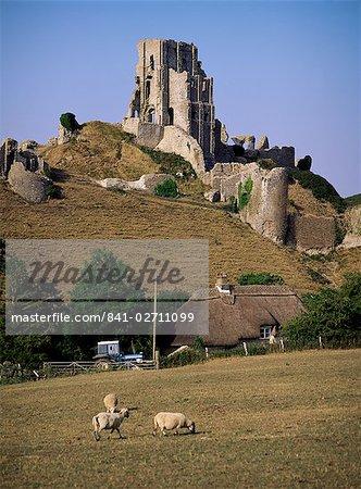 Corfe Castle, Dorset, England, United Kingdom, Europe