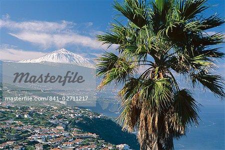 North coast and Mount Teide, Tenerife, Canary Islands, Spain, Atlantic, Europe