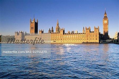 Die Häuser des Parlaments (Parlamentsgebäude), UNESCO Weltkulturerbe, London, England, Vereinigtes Königreich, Europa