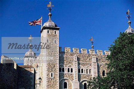 White Tower, tour de Londres, Site du patrimoine mondial de l'UNESCO, Londres, Royaume-Uni, Europe