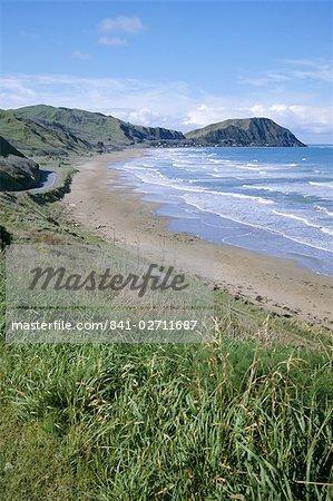Plages du Nord sur la côte road, Gisborne, côte, North Island, Nouvelle-Zélande, Pacifique