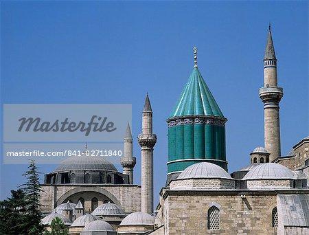 Mevlana Turbe (mausolée) et Selimiye Camii (mosquée de Selim), datant du XVIe siècle, Konya, Anatolie, Turquie, Asie mineure, Eurasie