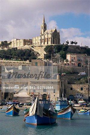 MGAR harbour, Gozo, Malte, Méditerranée, Europe