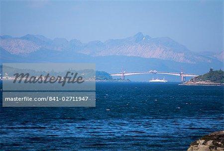Lochalsh Bridge linking mainland to Skye, Inverness-shire, Inner Hebrides, Scotland, United Kingdom, Europe