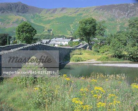 Grange and River Derwent, Lake District National Park, Cumbria, England, United Kingdom, Europe